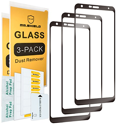 [3-Pack]-Mr.Shield for LG Stylo 4+ / LG Stylo 4 Plus [Japan Tempered Glass] [9H Hardness] [Full Cover] Screen Protector with Lifetime Replacement