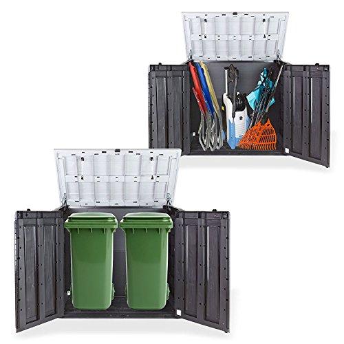 Gartenbox Mülltonnenbox Gerätebox Schuppen für 2X 240 Liter Mülltonnen