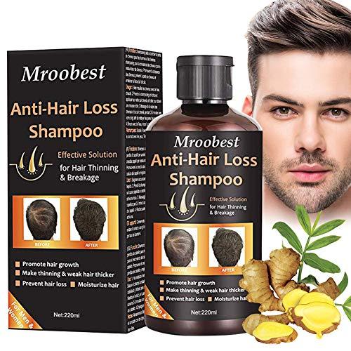 Haarshampoo, Haarwachstum Shampoo, Anti Haarverlust Shampoo, Natürliches & organisches Kräutershampoo für nachwachsendes Haar Schneller/Verhindert Haarausfall, Wachstum für Damen & Herren - 220ml