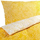 Ikea 3 Piece King Duvet Cover Set Akertistel Yellow