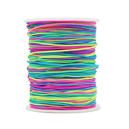 Tenn Well 1mm Elastic Cord, 328 Feet Colorful Beading Cord Stretchy String for Bracelets, Necklace, Jewelry Making and Crafts