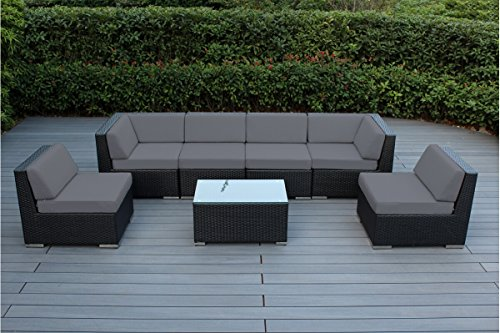 Ohana Outdoor Patio Wicker Furniture 7-Piece Sofa Set Review