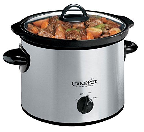 Crock-Pot 3-Quart Round Manual Slow Cooker,...