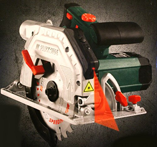 Parkside PHKS 1350 Scie circulaire portative avec accessoire Guidage laser Lames à bois