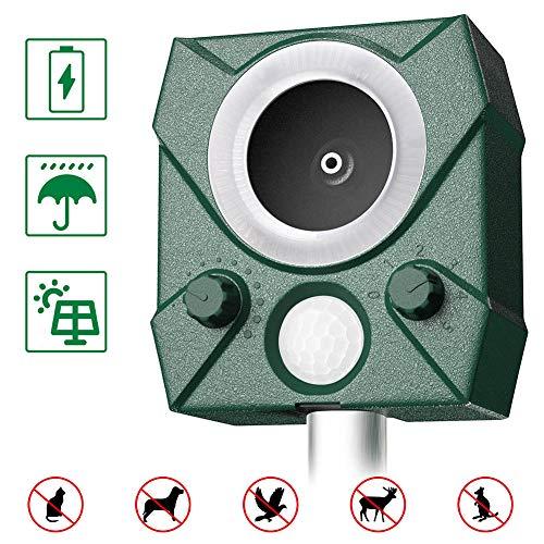 zonpor Katzenschreck, Ultraschall Tiervertreiber Solar Blitz Tierschreck Wasserdicht Abwehr, 5 Modus einstellbar