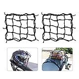 Filet à Bagages 2 Pièces Araignée Elastique avec 6 Crochets pour Moto Scooter Bicyclette VTT...