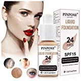 Liquid Foundation, Foundation Cream, Flawless Foundation, Hides Wrinkles & Lines, BB Cream, Covering Imperfections Liquid Complete Foundation Cover, Universal Shade for ALL Skin Makeup Concealer