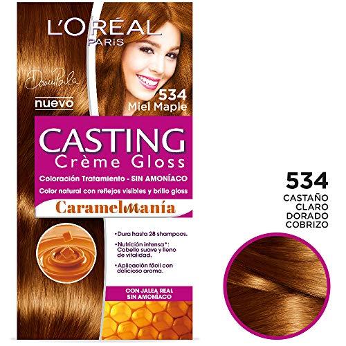 Tinte para cabello permanente Casting Créme Gloss L'Oréal Paris 534 Maple Caramelo