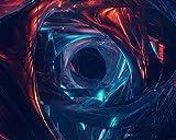 Kpoiuy Pintar por NúMeros DIY Agujero De Gusano VisualizacióN De Arte Futurismo DecoracióN De La Boda De La Lona Imagen del Arte Regalo 40 * 50CM Sin Marco