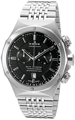 Edox Herren-Armbanduhr 10108 3 NIN Delfin Analog Display Schweizer Quarz Silber