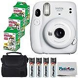 Fujifilm Instax Mini 11 Instant Camera - Ice White (16654798) + 3x Packs Fujifilm Instax Mini Twin...