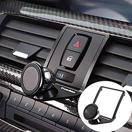 cssdesign Magnetic Phone Holder for Car,Alumium Alloy Mobile Phone Holder Trim for BM-W M3 M4 Series F30 F31 F32 F33 F34 F35 F36 F80 F82 black