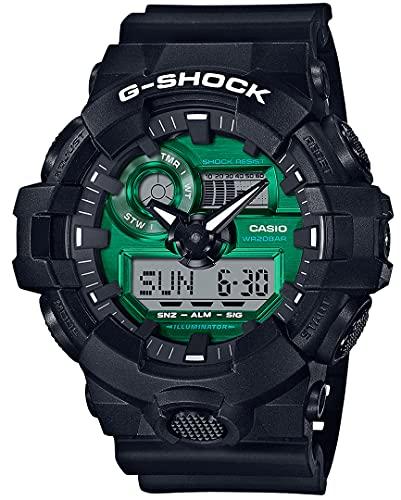 Casio G-Shock The Origin Herrenuhr Schwarz/Grün GA-700MG-1AER