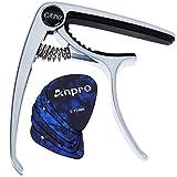 Anpro Capodastre de Guitare Et 6pcs Médiators Electrique Acoustique Capo...