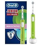 Oral-B Junior Cepillo De Dientes Eléctrico, 1 Mango Verde Recargable Con Tecnología De Braun, 1 Cabezal De Recambio, Apto Para Niños Mayores De 6 años