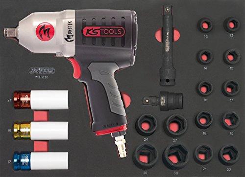 KS TOOLS 712.1020 Module de douilles et clé à chocs pneumatique 1/2'', 20 pièces