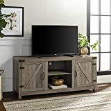 Walker Edison Furniture Company Farmhouse Barn Wood Universal Stand for TV's up to 64' Flat Screen...