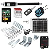 16 Ft Solar Powered Automatic Swing Gate Openers (US Based Seller) 16 Feet or 600+ Lbs. gate Capacity ETL Listed IP56 Waterproof Dual (2 Remotes) Double Leaf by Homeland Hardware