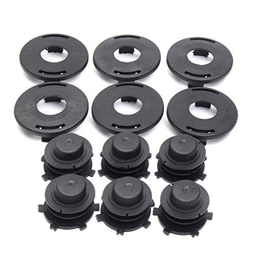 Cococina 6pcs bobine + 6pcs Cap Combo della testa per Stihl tosaerba 252FS 9010011012013055808385