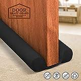 Holikme Twin Door Draft Stopper Weather Stripping Noise Reduction Window Breeze Blocker Adjustable Door Sweeps 34inch Black