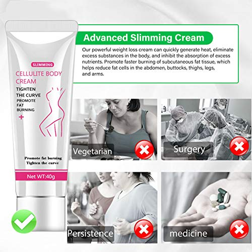 Hot Cream, Cellulite Slimming and Body Fat Burning Cream Weight Loss Serum Treatment Deep Tissue Massage for Shaping Waist, Abdomen and Buttocks 6