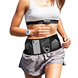MPEDOUR Sports Waist Trainer Corset Workout Fanny Pack for Running Hiking, Slimfit Money Travel Belt with Zippered Wrist Wallet Large Security Pockets