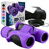 Binoculars for Kids High Resolution 8x21 - Purple Compact High Power Kids Binoculars for Bird Watching, Hiking, Hunting, Outdoor Games, Spy and Camping Gear, Learning, Outside Play, Boys, Girls