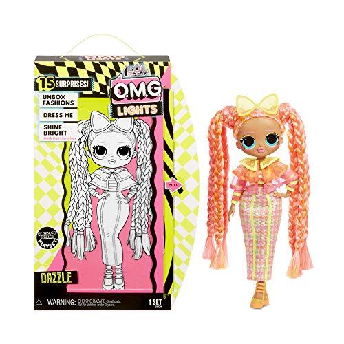 Image 2 - L.O.L. Surprise! Poupées mannequins collectionnables – Avec 15 surprises, vêtements et accessoires - Dazzle – Série O.M.G. Lights