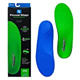 Powerstep Pinnacle High Insoles Orthotic Heel Cushion Shoe Inserts, Equipment for Home Workout, Blue and Green, Men's 4-4.5, Women's 6-6.5