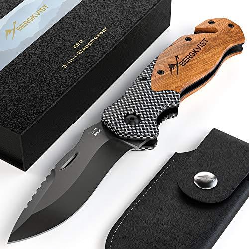 BERGKVIST® 3-in-1 Taschenmesser K20 Zweihand-Messer...