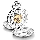 Infinite U Esqueleto Números Romanos Acero Grande Dobles Tapas Reloj de...