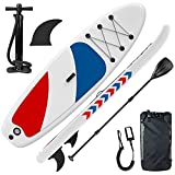 Gruper Inflatable Stand Up Paddle Boards with 3 Layers Anti Air Leakage Design, 330 lb Load-Bearing Weight, Anti Non-Slip Deck, Premium SUP Accessories, for Having Fun in Rivers, Lakes and Sea