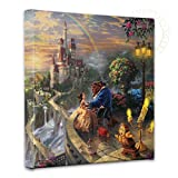Thomas Kinkade - Gallery Wrapped Canvas, Beauty and The Beast Falling in Love, 14' x 14', 55392