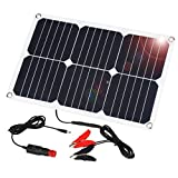 SUAOKI 12V Solar Car Battery Charger, 18W Trickle Solar Panel Charger, Portable and Waterproof Solar...