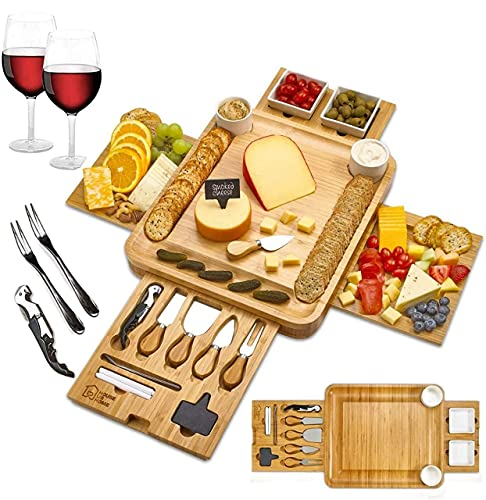 Cheese Board 2 Ceramic Bowls 2 Serving Plates. Magnetic 4...
