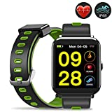 Evershop Fitness Tracker with HD Color Screen, IP68 Waterproof Smart Watch, Activity Tracker with Heart Rate Monitor,Calorie Counter Sleep Monitor for Women Men Kids(Green)