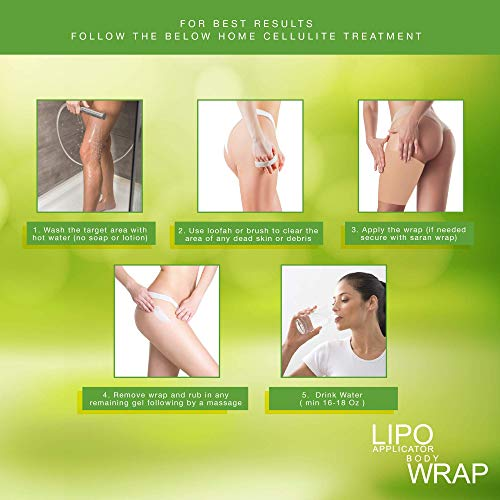 Ultimate Body Applicator Lipo Wrap. Skinny Wraps for inch loss, tone and contouring, it works for cellulite, and stretch marks reduction. (6 Wraps) 6