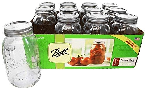 Ball Regular Mouth Canning Jar 1 qt. 12 pk