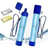 ioutdoor Paille Filtre Eau Personnel sans BPA avec Urgence Couverture,Portable Purificateur Eau...