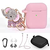 TOROTOP Compatible for Airpods Case Keychain Set 7 in 1 Silicone Protective Airpod Case Cover...