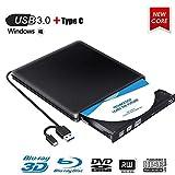 Lecteur Graveur Blu Ray Externe CD DVD 3D, USB 3.0 Portable Lecteur Blu-Ray Slim...