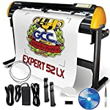 GCC Professional Expert II LX Vinyl Cutter 52 Inch Wide with Stand & Aligning System for...