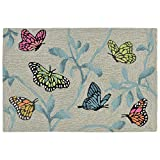 Liora Manne 2274/06 MI Ravella Butterflies On Tree Indoor/Outdoor Rug, 2' X 3', Blue and Multi