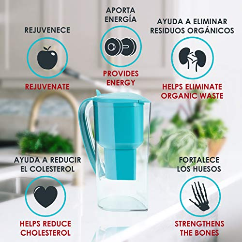 Product Image 6: Alkanatur Alkaline Water Filter Pitcher removes Fluorides, Chlorine, Sodium, impurities, etc, Alkaline, Ionized, Hydrogenated Water, high pH of 9.5, adds Magnesium - Most Certified Pitcher BPA Free