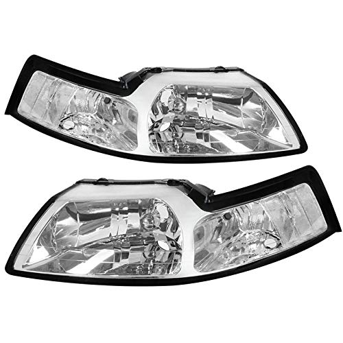 Carpartsinnovate For 99-04 Replacement Clear Headlights Driving Head Lamp Left+Right