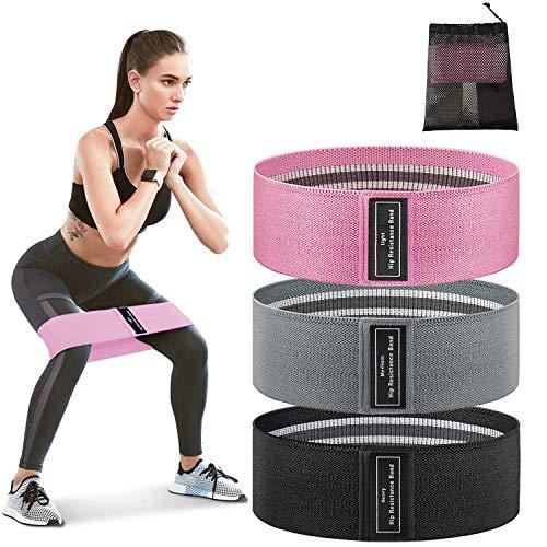 Elastici Fitness, Fasce di resistenza Set con 3 livelli di Resistenza, IGYLAR Theraband per l'allenamento di Gambe e Vita per la Perfetta Forma dei Fianchi, per Famiglie e Palestra