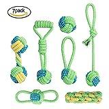 ZEWOO 7 PCS Jouets Tricot à Pet Rope Chew Toy Teaser Candy Color MolarTeether pour Chiens et Chats...