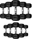 TNP Accessories Rubber Hexa Hex Dumbbells Weight Set Solid Dumbbell (5KG) (Misc.)