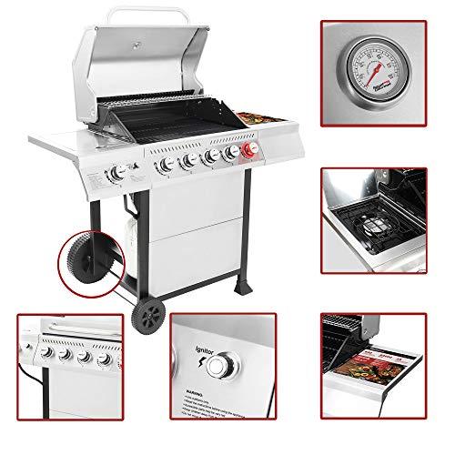 Product Image 5: Royal Gourmet GA5401T 5-Burner BBQ Liquid Propane Gas Grill with Sear Burner and Side Burner, <a href=