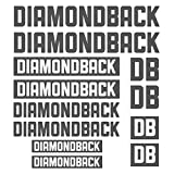 For DIAMONDBACK Die-cut Decal Sticker sheet (cycling, mtb, bmx, bike, frame) - Bicycle body car styling decorative Decal Sticker Set (GRAY)